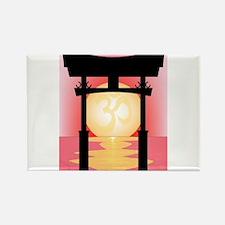 Japanese Tori Gate Sunset Magnets