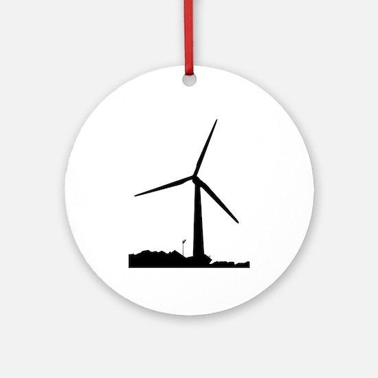 Wind Power Round Ornament