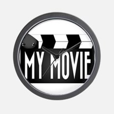 My Movie Clapperboard Wall Clock
