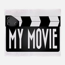 My Movie Clapperboard Throw Blanket