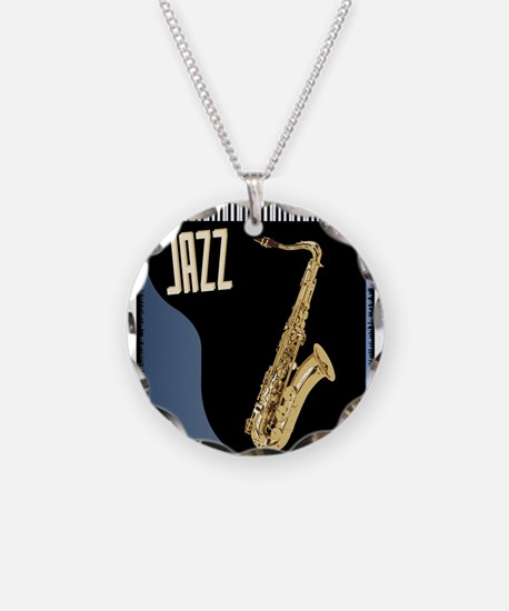 Saxophone Piano Background Necklace