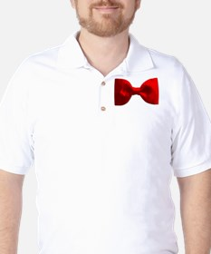 Red Bow Tie Golf Shirt