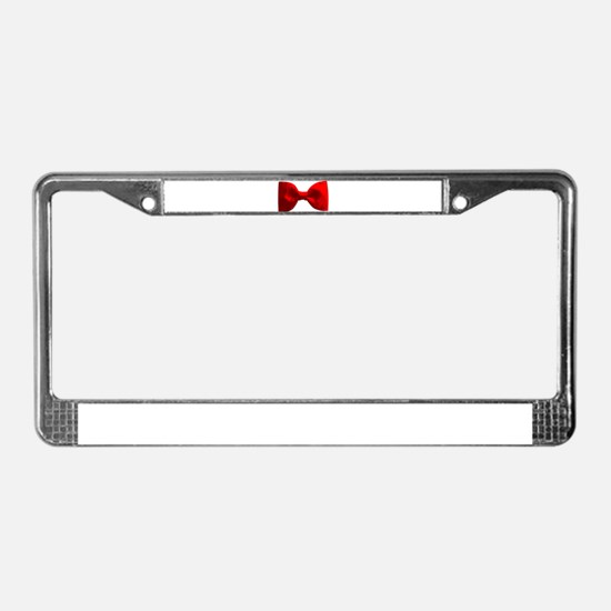 Red Bow Tie License Plate Frame