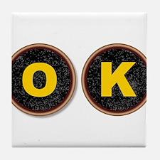 OK Typewriter Keys Tile Coaster