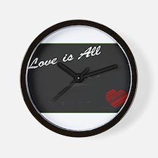 Love Blackboard Wall Clock