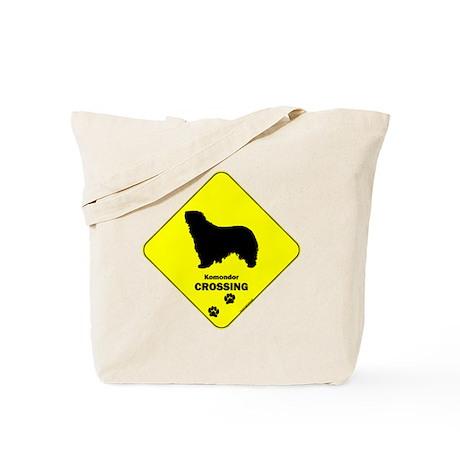 Komondor Crossing Tote Bag