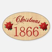 1866 Scrapbooking Christmas Oval Decal