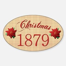 1879 Scrapbooking Christmas Oval Decal