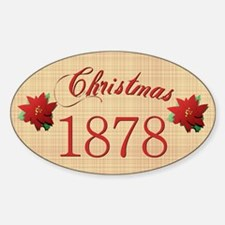 1878 Scrapbooking Christmas Oval Decal