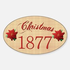 1877 Scrapbooking Christmas Oval Decal