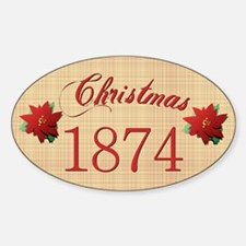 1874 Scrapbooking Christmas Oval Decal