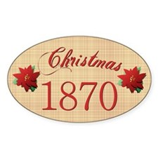 1870 Scrapbooking Christmas Oval Decal