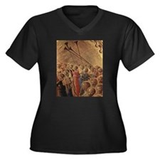 Medieval Angels Women's Plus Size V-Neck Dark T-Sh