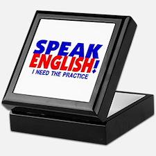 Speak English I Need Practice Keepsake Box
