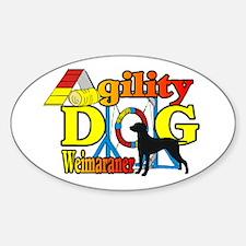 Weimaraner Agility Sticker (Oval 10 pk)