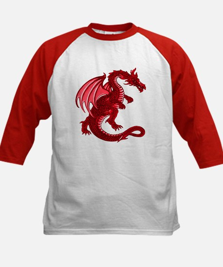 Kids Red Dragon Baseball Jersey