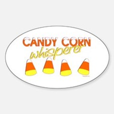 Candy Corn Whisperer Oval Decal