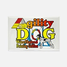 Wirehaired Pointing Gri Rectangle Magnet (10 pack)