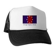 Chicago Heights IL Flag Trucker Hat