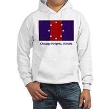 Chicago Heights IL Flag Hoodie