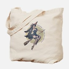 Vintage Salem Witch Tote Bag