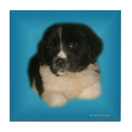 Newfie Puppy Tile Coaster