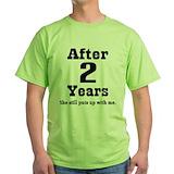 Funny anniversary Green T-Shirt