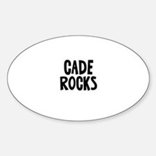 Cade Rocks Oval Decal