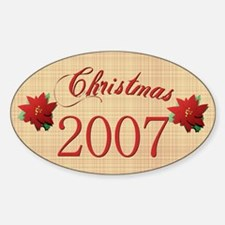2007 Scrapbooking Christmas Oval Decal