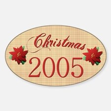 2005 Scrapbooking Christmas Oval Decal