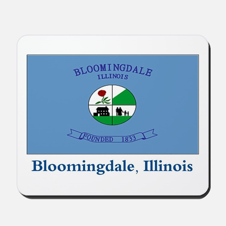 Bloomingdale IL Flag Mousepad