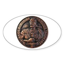 Gediminas (Duke Of Lithuania) Oval Decal