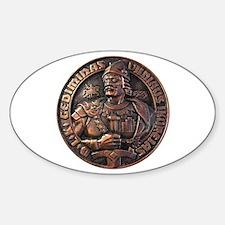 Gediminas (Duke Of Lithuania) Oval Decal
