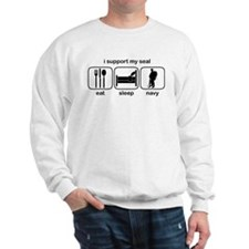 Eat Sleep Navy - Support Seal Sweatshirt