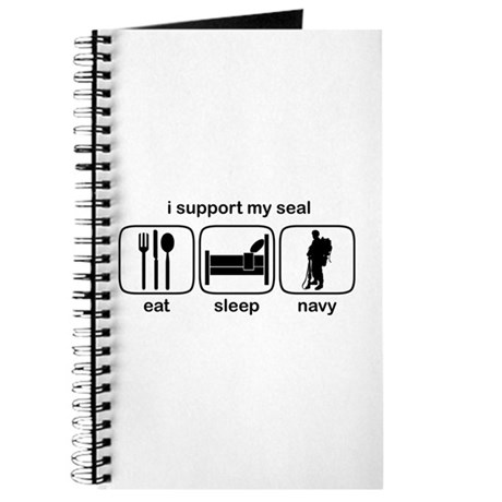 Eat Sleep Navy - Support Seal Journal