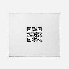 Cute Qr code Throw Blanket