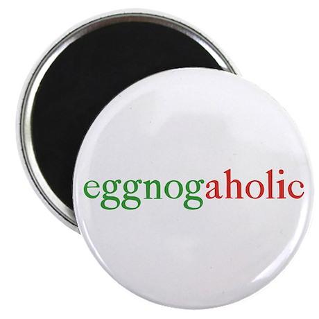 "Eggnogaholic Christmas 2.25"" Magnet (10 pack)"