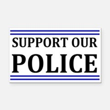Support Our Police Rectangle Car Magnet