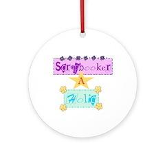 Scrapbooker-a-Holic Keepsake (Round)