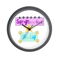 Scrapbooker-a-Holic Wall Clock