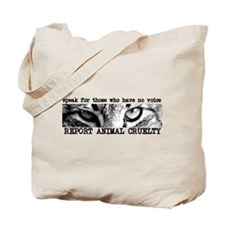 Report Animal Cruelty Cat Tote Bag