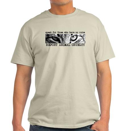 Report Animal Cruelty Cat Light T-Shirt