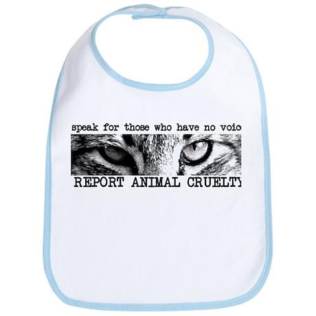 Report Animal Cruelty Cat Bib