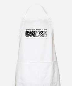 Report Animal Cruelty Cat BBQ Apron