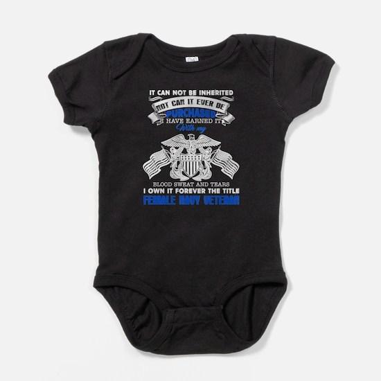 Female Navy Veteran Baby Bodysuit