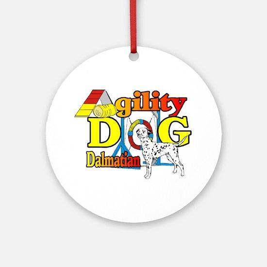 Dalmatian Agility Round Ornament