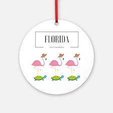 Unique Daytona beach Round Ornament