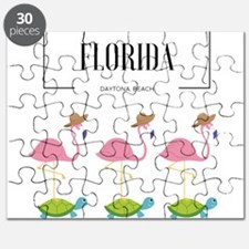 Cute Flamingo florida Puzzle