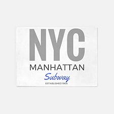 NYC Manhattan Subway 5'x7'Area Rug