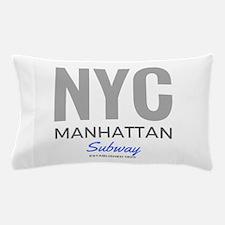 NYC Manhattan Subway Pillow Case
